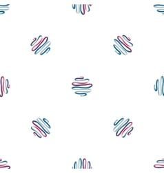 Abstract hand drawn seamless pattern vector image vector image