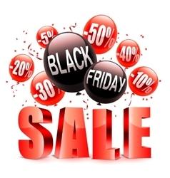Black friday sale announcement vector