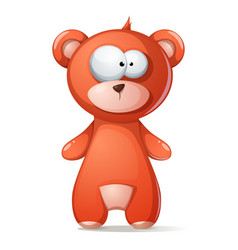 cute funny brown bear grizzly teddy vector image vector image
