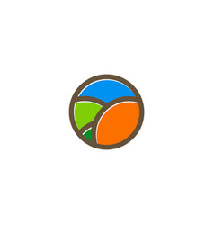 eco round color logo vector image