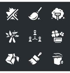 Icons Set of Utility Service vector image vector image