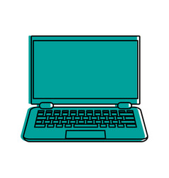 laptop computer frontview icon image vector image vector image