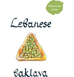 Lebanese baklava vector image vector image