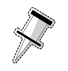push pin icon image vector image