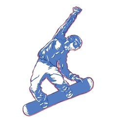 snowboard jump champion vector image vector image