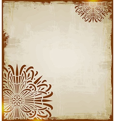 Vintage ethnic background vector image vector image