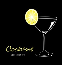 Cocktail with lemon vector image vector image
