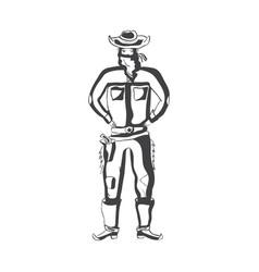 cowboy 1 vector image