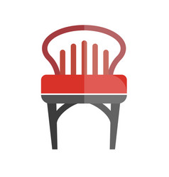 Red chair with lined back isolated on white vector