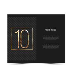 10th anniversary invitation card template vector