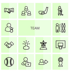 14 team icons vector