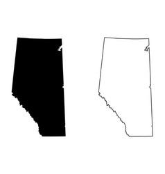 Alberta canada map vector
