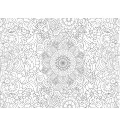 antistress coloring book floral ornament on the vector image