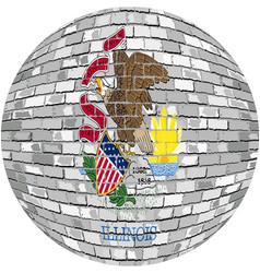 Ball with illinois flag vector