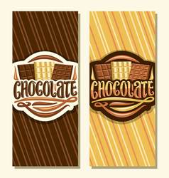 Banners for chocolate vector