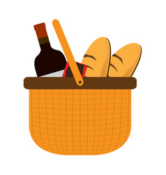 basket picnic icon vector image