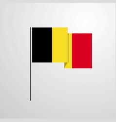 Belgium waving flag design background vector