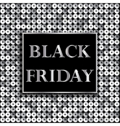 Black Friday Sale Background with mosaic vector image