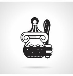 Black icon for honey jar vector image