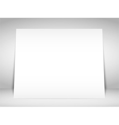 Blank White Placard vector