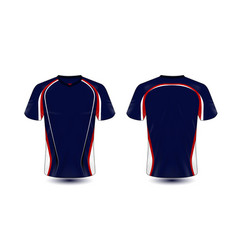 blue and red layout e-sport t-shirt design vector image