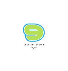 blue green number 9 logo icon design vector image