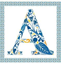 Blue letter A vector image