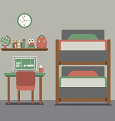 Bunk Bed With Workspace vector image