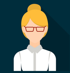 Business woman icon flat single avatarpeaople vector