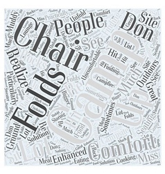 Camping chair Word Cloud Concept vector