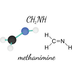 CH2NH methanimine molecule vector