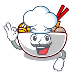 chef meatball in a mascot shape vector image