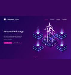 clean energy modern power engineering web banner vector image