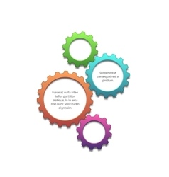 Colorful gears background vector