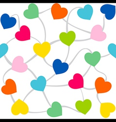 colorful heart random arrange pattern design vector image