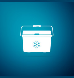 Cooler bag icon isolated on blue background vector