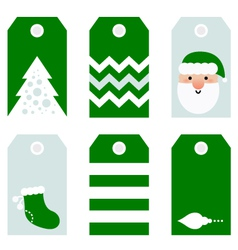 Cute modern Christmas holiday gift tags printables vector