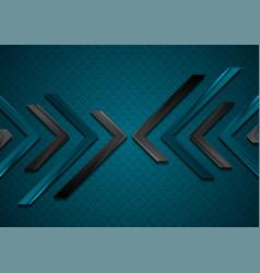 dark abstract hi-tech futuristic background vector image