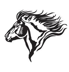 decorative portrait of pony vector image