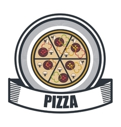 delicious pizza isolated icon design vector image