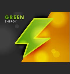 Electro power green energy symbol on bright vector