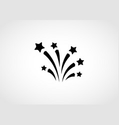 fireworks pictograph vector image