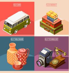 flea market 2x2 design concept vector image