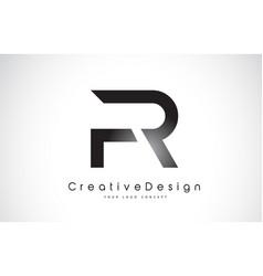 Fr f r letter logo design creative icon modern vector