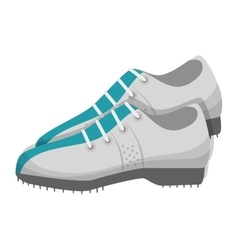 Golf shoes equipment vector