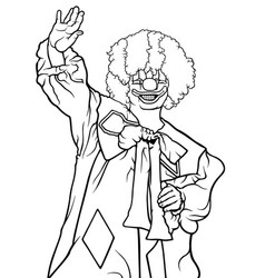 Happy clown waving vector
