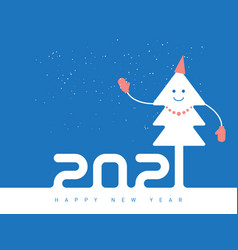 happy new year 2021 poster design with dressy vector image