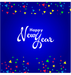 Happy new year template design vector