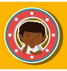 icon cartoon child boy happy vector image
