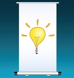 idea on a projector color vector image